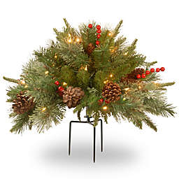 National Tree Company 18-Inch Colonial Pre-Lit Urn with Tripod