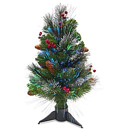 National Tree Company Crestwood Spruce Fiber Optic Christmas Tree