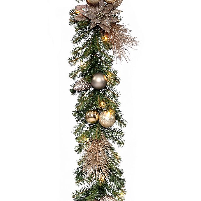 Alternate image 1 for National Tree Company Decorative Collection 9-Inch Metallic Garland