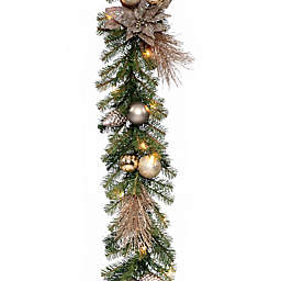 National Tree Company Decorative Collection 9-Inch Metallic Garland