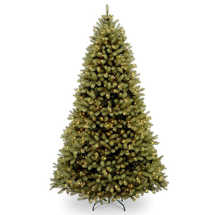 Alternate image 1 for National Tree Company Downswept Douglas Fir Pre-Lit Christmas Tree with Clear Lights