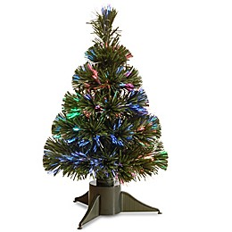 National Tree Fiber Optic Ice Pre-Lit Christmas Tree