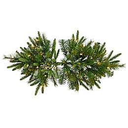 Vickerman 36-Inch Cashmere Pine Pre-Lit Swag with White Lights and Timer