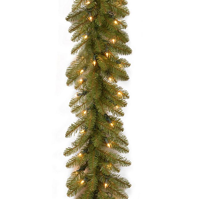 Alternate image 1 for National Tree 9-Foot Dunhill Fir Pre-Lit Garland with Clear Lights