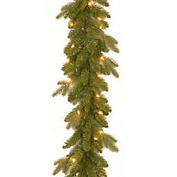 National Tree 9-Foot Avalon Spruce Pre-Lit Garland with Clear Lights