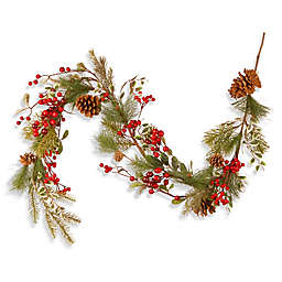 National Tree 5-Foot Berry and Pine Cone Garland