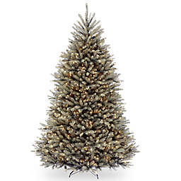 National Tree 7-Foot 6-Inch Dunhill Fir Christmas Tree with Clear Lights in Blue
