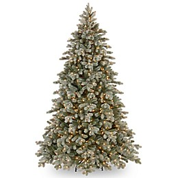 National Tree 7.5-Foot Frosted Colorado Spruce Pre-Lit Christmas Tree with Clear Lights