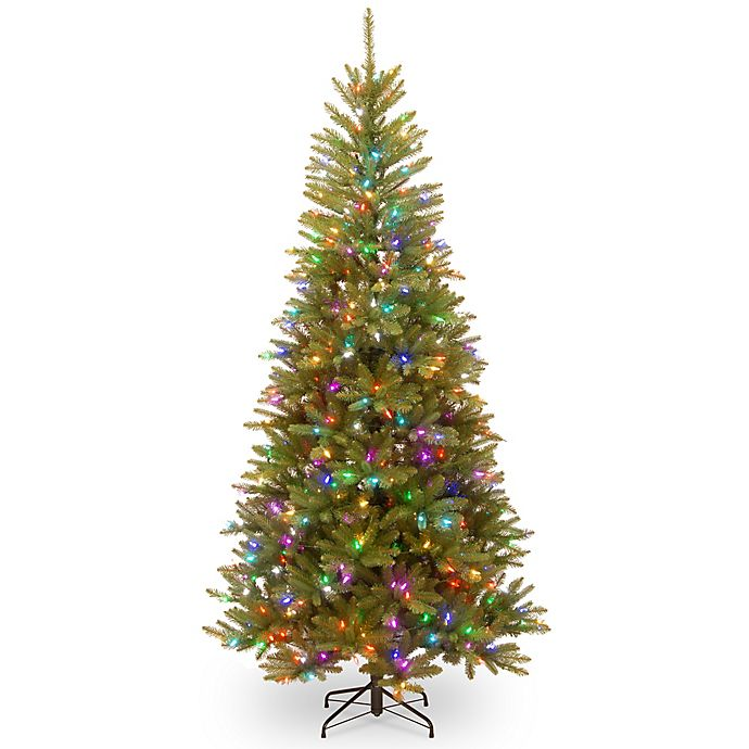 How Many Lights Per Foot Of Christmas Tree.National Tree 7 5 Foot Dunhill Fir Pre Lit Christmas Tree