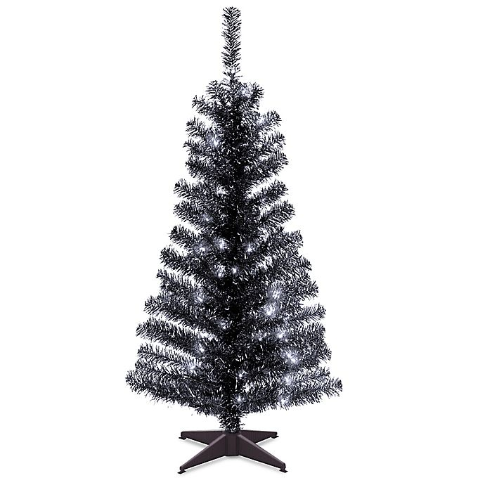 Tinsel Christmas Tree.Natural Tree 4 Foot Tinsel Christmas Tree In Black With