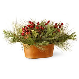 National Tree Company Potted Bristle and Berries