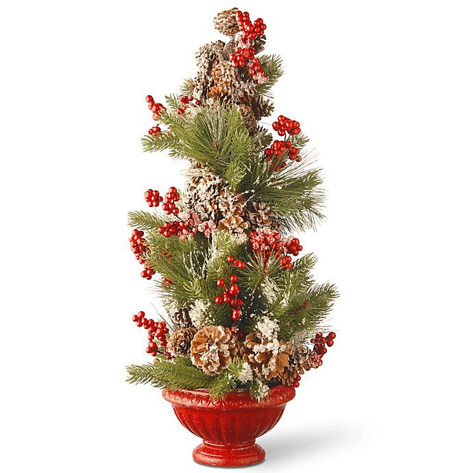Alternate image 1 for National Tree 26-Inch Berry and Pine Cone Holiday Tree in Urn
