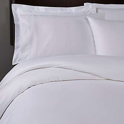 T-Y Group Solid Sateen T300 Full/Queen Duvet Cover in White