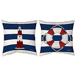 Nautical Stripe Indoor/Outdoor Throw Pillow