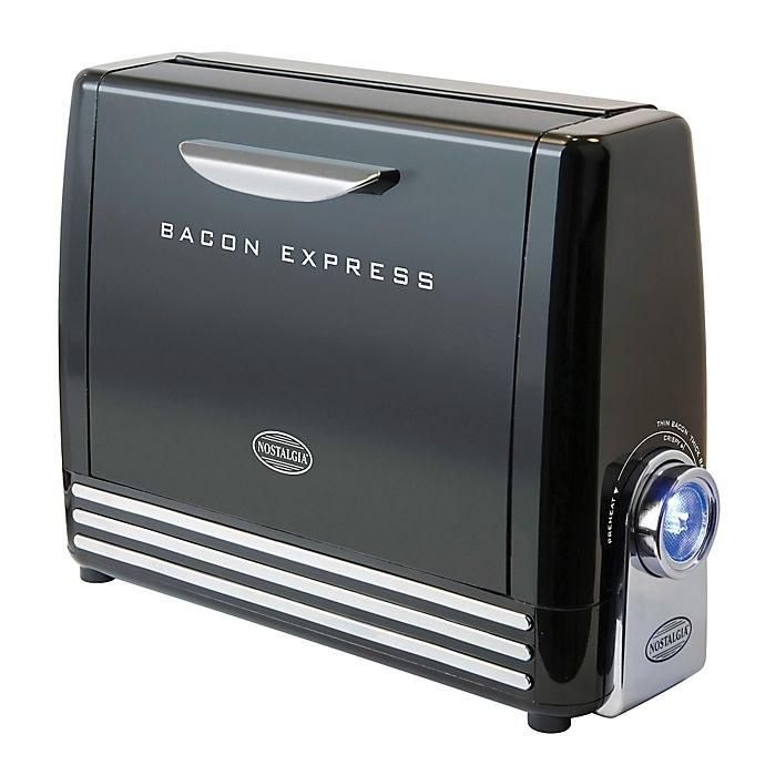 Alternate image 1 for Nostalgia™ Electrics Bacon Express in Black