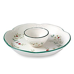 Pfaltzgraff Winterberry 14-Inch Chip and Dip Server