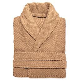 Linum Home Textiles Herringbone Unisex Turkish Cotton Bathrobe