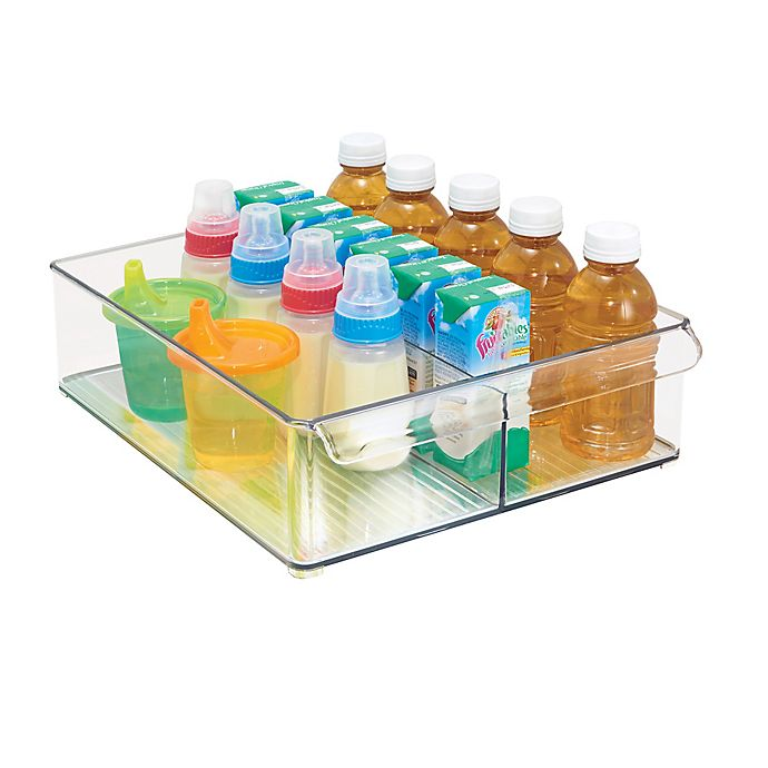 Alternate image 1 for iDesign® Fridge Binz™ 12-Inch x 15-Inch Divided Deep Tray