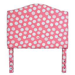 HomePop Kinfine Twin Tufted Fabric Headboard in Pink