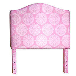 HomePop Twin Medallion Headboard in Pink/White