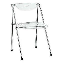 Modway Telescope Folding Chair in Clear