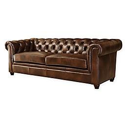 Abbyson Living® Foyer Sofa in Chestnut