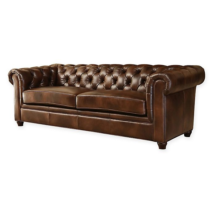 Alternate image 1 for Abbyson Living® Foyer Sofa in Chestnut