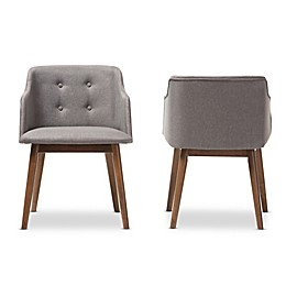 Harrison Set of 2 Accent Chairs in Brown and Grey