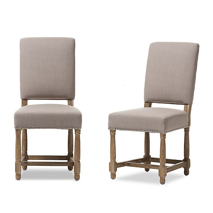 Excellent Deborah Dining Chair In Beige Set Of 2 Bed Bath Beyond Gmtry Best Dining Table And Chair Ideas Images Gmtryco