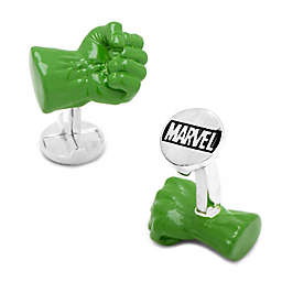 Marvel Hulk 3D Fist Silver Plate Cufflinks