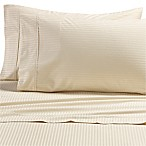 All Natural Cotton 500-Thread-Count Stripe King Pillowcases in Natural (Set of 2)