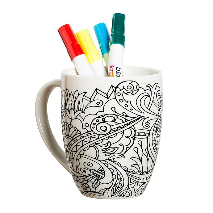 floral accented coloring mug view a larger version of this product image