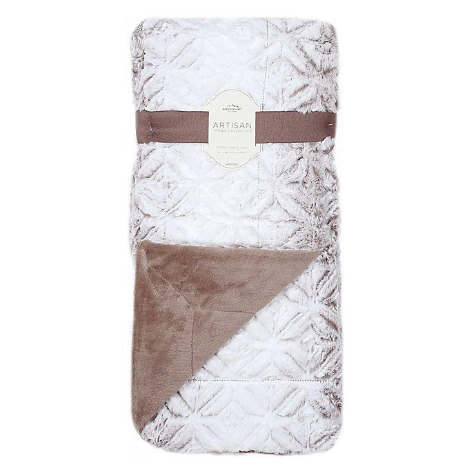 Alternate image 1 for Artisan Tipped Ombre Throw Blanket in Mocha