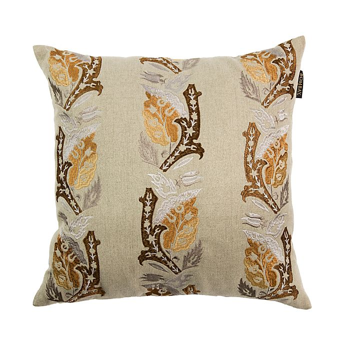 Alternate image 1 for Bombay® Sari Square Throw Pillow in Tan