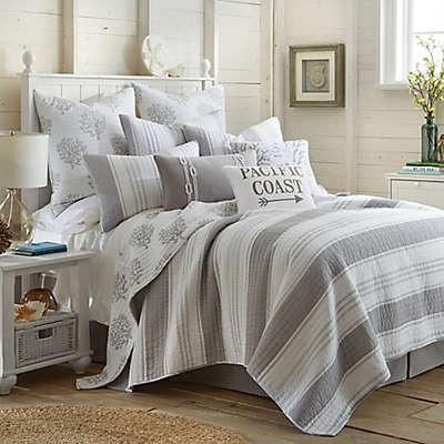 Levtex Home Nantucket Reversible Quilt Set in Grey