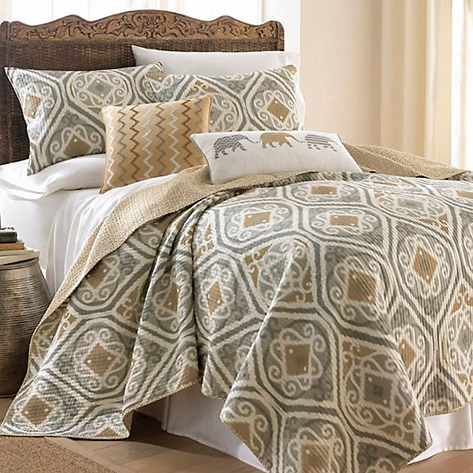 Alternate image 1 for Levtex Home Accra 3-Piece Reversible King Quilt Set Beige/Grey