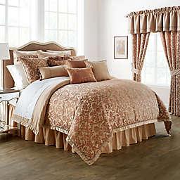 Waterford® Linens Margot Reversible Comforter Set in Persimmon