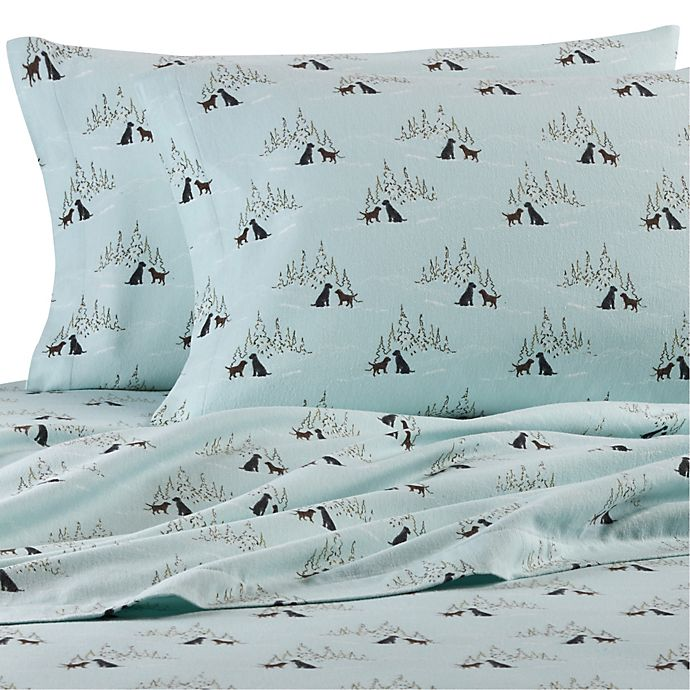 Eddie Bauer Dog Friends Flannel Sheet Set In Light Blue Bed Bath Beyond