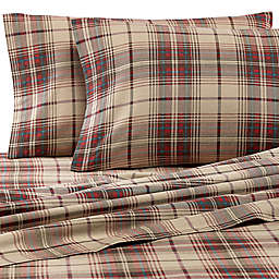 Eddie Bauer® Montlake Plaid Flannel Sheet Set in Red