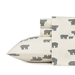 Eddie Bauer Home Bear Family Flannel Sheet Set