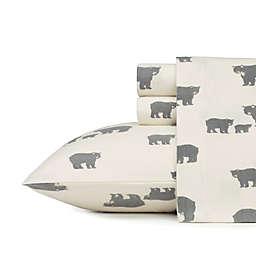 Eddie Bauer Home Bear Family Flannel Sheet Set