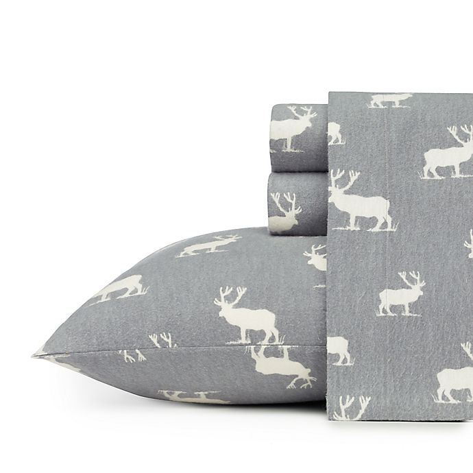 Alternate image 1 for Eddie Bauer® Elk Grove Queen Sheet Set in Grey