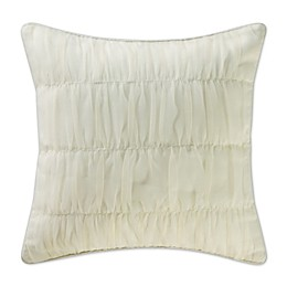 Waterford® Linens Allure Ruched Square Throw Pillow in Ivory