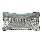 Waterford® Linens Ansonia 24-Inch x 12-Inch Throw Pillow in Pewter