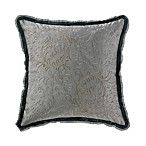Waterford® Linens Ansonia 16-Inch Square Throw Pillow in Pewter