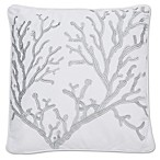 Levtex Home Nantucket Grey Coral Embroidered Pillow
