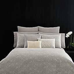 Vera Wang™ Home Crochet Lace Duvet Cover in Grey