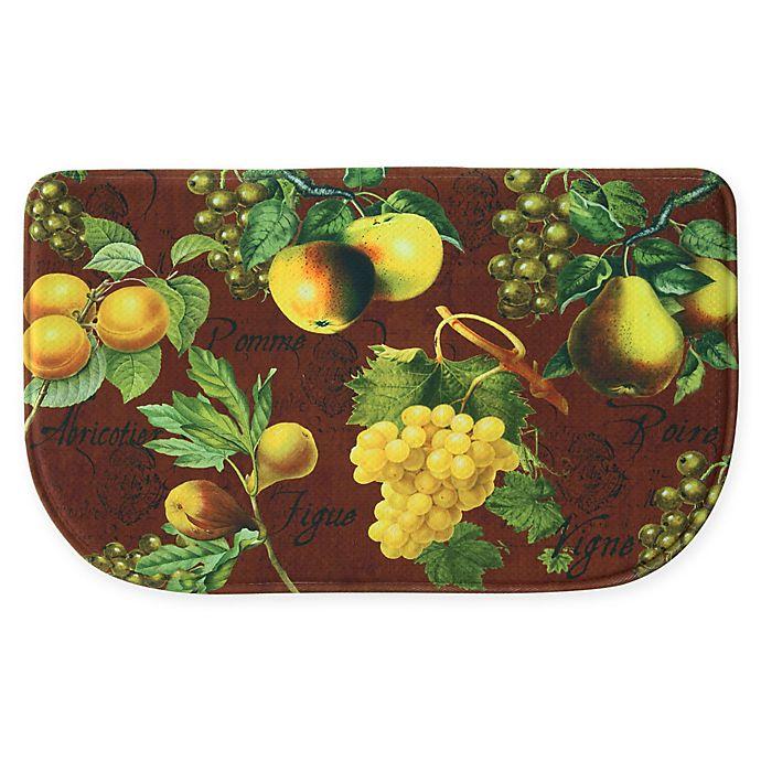 Bacova Botanical Fruit Memory Foam Kitchen Runner Collection