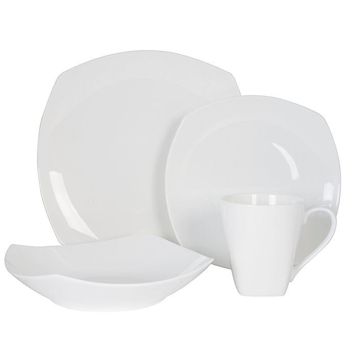Alternate image 1 for Nevaeh White® by Fitz and Floyd® Soft Square Dinnerware Collection