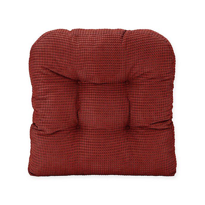 Alternate image 1 for Therapedic® Memory Foam Chair Pad in Burgundy